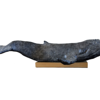 Baleine à brosse- Résine patinée - 2014